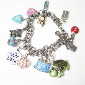 Charm it! Charm Bracelet with 13 Assorted Charms